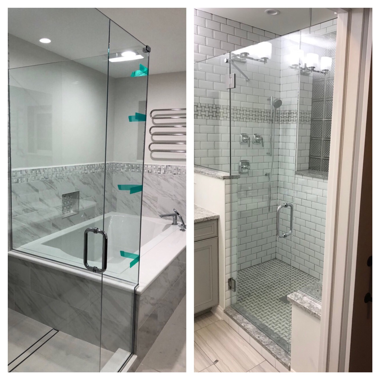 Shower Door & Mirror Installation